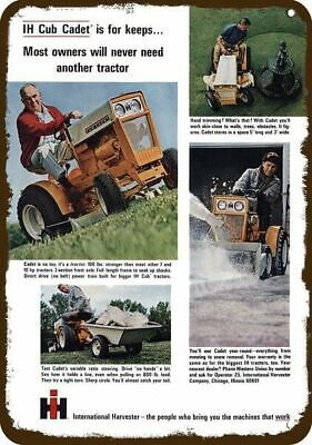 1965 INTERNATIONAL HARVESTER IH CUB CADET LAWN MOWER Vintage Look METAL SIGN
