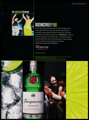 Tanqueray Scotch whiskey print ad 2003 green and black - Distinctively You