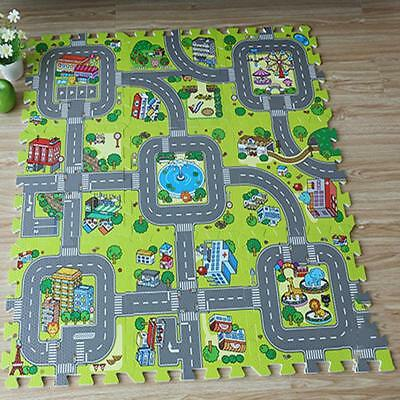 Eva Foam Puzzle Play Floor Education Traffic Route Kids Soft Mats Baby Mats New