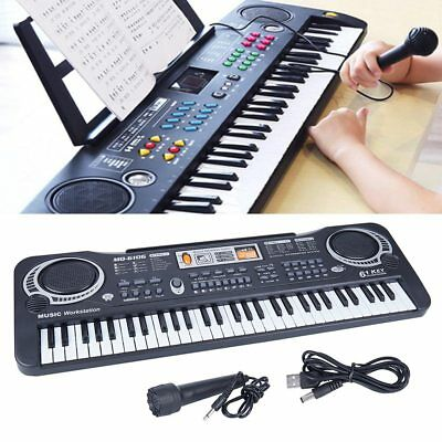 61 Keys Electric Piano Music Electronic Keyboard Beginners Organ Mini Microphone