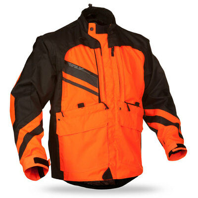Fly Racing Patrol MX BMX motorcycle jacket adult L large bright orange 368-688L