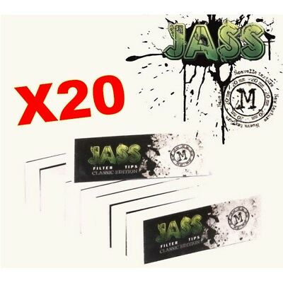 JASS TIPS Lot De 20 Carnets x50 Filtres En Carton 20MM