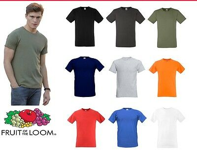 Fruit Of The Loom Ajusté Valueweight T-Shirt Toutes les Tailles Neuf