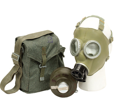 Poland Polish Army Mc-1 Mc1 Gas Mask Respirator Kit & Camo Bag - Survival Kit