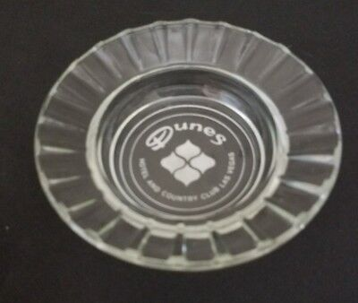 Vintage Glass Dunes Hotel and Country Club Las Vegas Ashtray