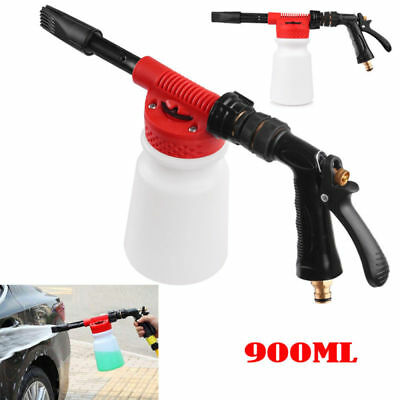 Adjustable Snow Foam Car Auto Wash Spray Gun Lance Uses Hose Pipe Sprayer 900ml