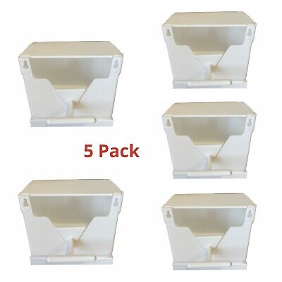 5X Plastic Finch Nest Box With Hooks Front & Back For Exotic Finch