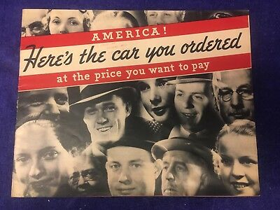 1936 Studebaker Dictator Six and President Eight Sales Brochure Original
