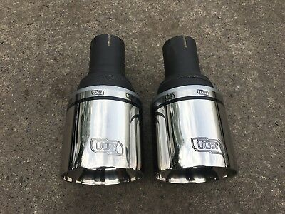 VW Golf MK6 Sport Exhaust Polished Tails Tips Trims 4'' Fast Shipping