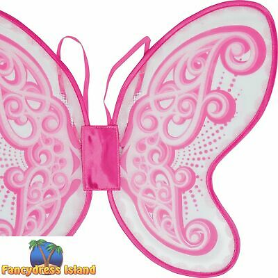 Butterfly Wings Pink Plastic Material Fairytale Princess Fancy Dress Accessory