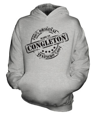 Made In Congleton Unisex Kids Hoodie Boys Girls Children Toddler Gift Christmas