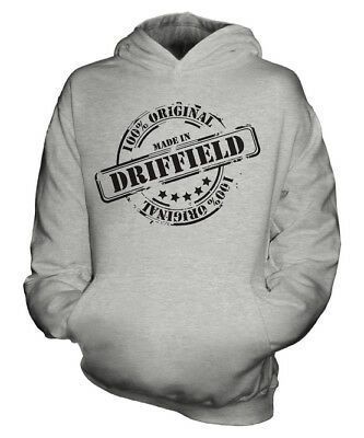 Made In Driffield Unisex Kids Hoodie Boys Girls Children Toddler Gift Christmas
