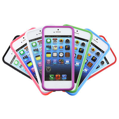Bumper Frame TPU Silicone Case for iPhone 5 5S SD