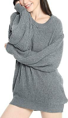 Liny Xin Women s Cashmere Oversized Loose Knitted Crew Neck Long Sleeve  Winte. dfff9bc8a