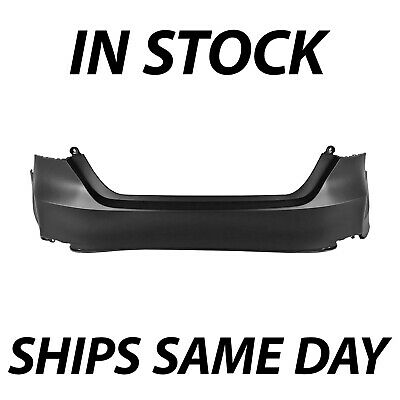 NEW Primered Rear Bumper Cover for 2018 2019 Toyota Camry L LE & LE Hybrid 18 19