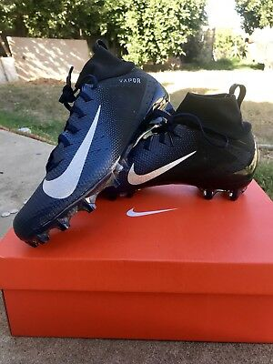 19cc46f75608 Nike Vapor Untouchable Pro 3 Black Blue Silver Men 12 Football Cleats  917165 004