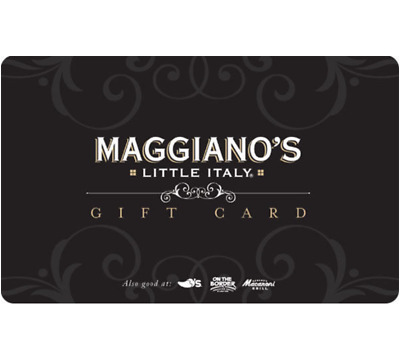 photo regarding Maggianos Printable Coupon named MAGGIANOS Reward CARD - $25 $50 $100 - E mail shipping
