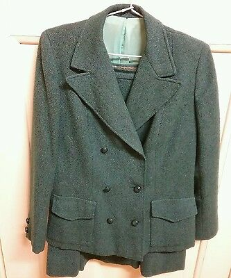 1950s,2 piece,pure wool,tweed suit.Size 10