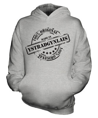 Made In Ystradgynlais Unisex Kids Hoodie Boys Girls Children Gift Christmas
