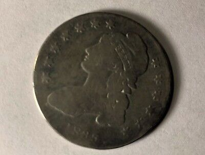1835 Capped Bust Silver Half Dollar 50 Cent Piece