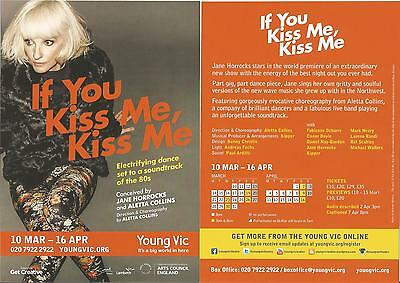 Jane Horrocks   If You Kiss Me  London Young Vic Theatre  2016   Promo Flyer x 3