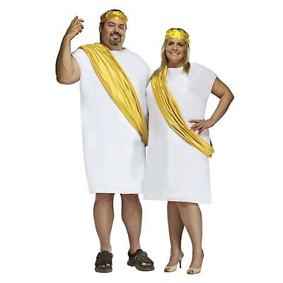 583d9a64be6 ADULT ROMAN HERCULES Greek Halloween Cosplay Costume Toga Robe Headpiece  Plus