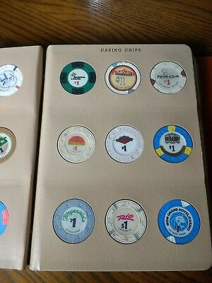 Casino Chips lot of 24 in collection display book