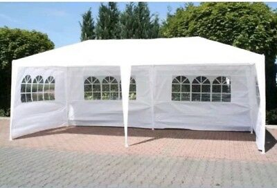 LARGE STRONG FoxHunter 6M x 3M Party Tent Marquee TWO SUPPORT BEAMS Waterproof