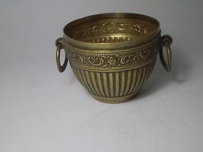 Unique Antique Greek Traditional Hand Crafted Engraved BRASS  Cup . 2,5''diam.