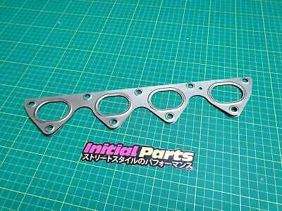 B16 B17 B18 Exhaust Manifold Gasket Honda Civic CR-X Integra 3 Layer Stainles...