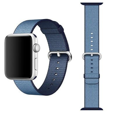 Genuine Apple 38mm 40mm Navy Tahoe Blue Nylon Band for Apple Watch MP222AM/A