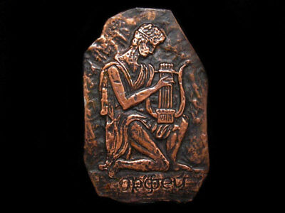 Nice Vintage Ancient Style Decorative Mount , Orpheus Playing Lyre !!!