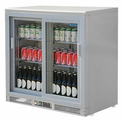 Polar Bardisplay Silver Colour with Two Sliding Doors