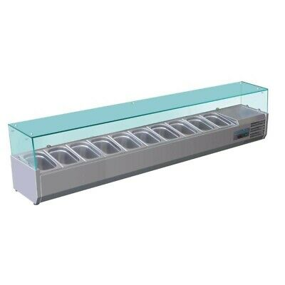 Polar Tower Display Case 10x GN1/4 Refrigerated Kühlaufsatzvitrine