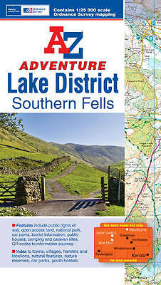 Lake District (Southern Fells) Adventure Atlas by Geographers' A-Z Map Company (