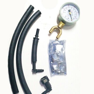 46cm Universal Car Fuel Pressure Tester Gauge Analogue Gasoline MPa Hose Adapter