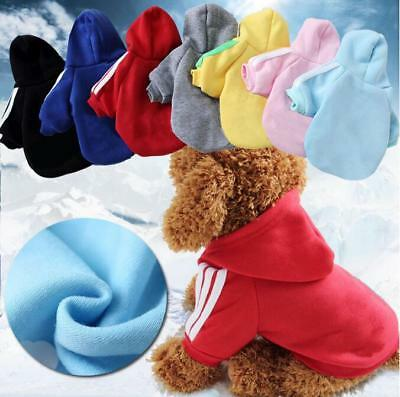 Puppy Pet Dog Clothes Hoodie Winter Sweatshirt Shirt Pet Coat Jacket S-9XL USA