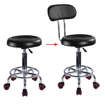 UK Adjustable Beauty Spa Salon Stool Barber Tattoo Hairdresser Chairs Black