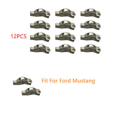 12PCS Fit For Ford Mustang Engine Valve Rocker Arm 2006-2010 Mercury Mountaineer