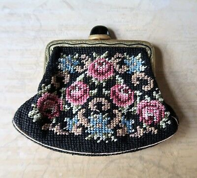 Vintage 1930s Hand Embroidered Czechoslovakian Coin Purse