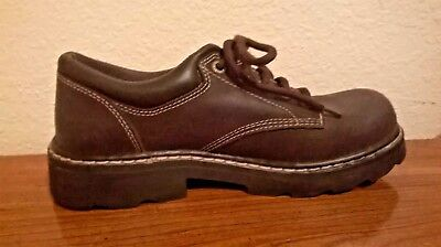 eba69ae27792 Skechers Parties Mate Chocolate Leather Chunky Oxfords SN45120 Women s Sz 8  M
