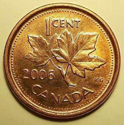 Extremely RARE 2006 Magnetic No Logo, No P, Canadian Small Cent B65