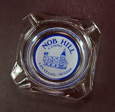 Rare Vintage Nob Hill Casino Las Vegas Glass Ashtray Advertising