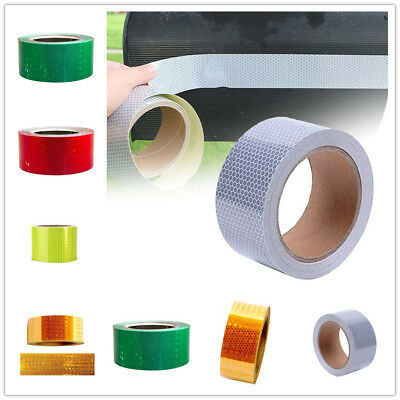 3 Meters Reflective Safety Warning Tape Film Sticker Roll Strip 6 Colors