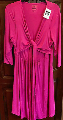 Nwt Rosie Pope Pip & Vine Pink Knotted Dress Size Xl Nursing Maternity