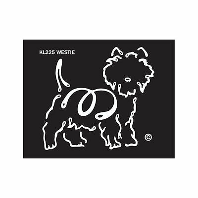 West Highland Terrier Westie Dog K-Lines Dog Car Window Tattoo Decal Sticker