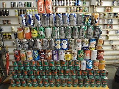 ( Qty 100 ) Vintage Soda Cans