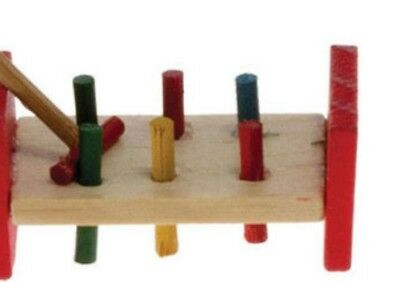 Miniature dolls house accessories Peg and Hammer Game 1:12th miniature scale siz