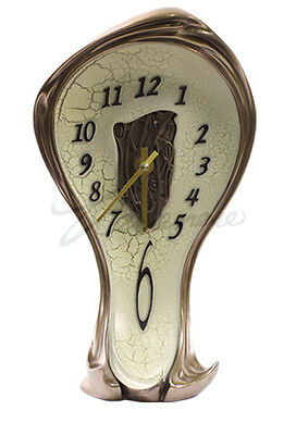 NEW Art Nouveau Melting Clock 8389 Magnificent! Ship Immediately