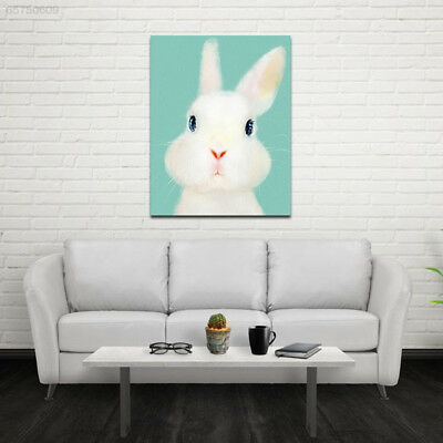 140C 35x45cm Cute-Animals Rabbits Wall Oil-Painting Home-Decoration Art-Poster